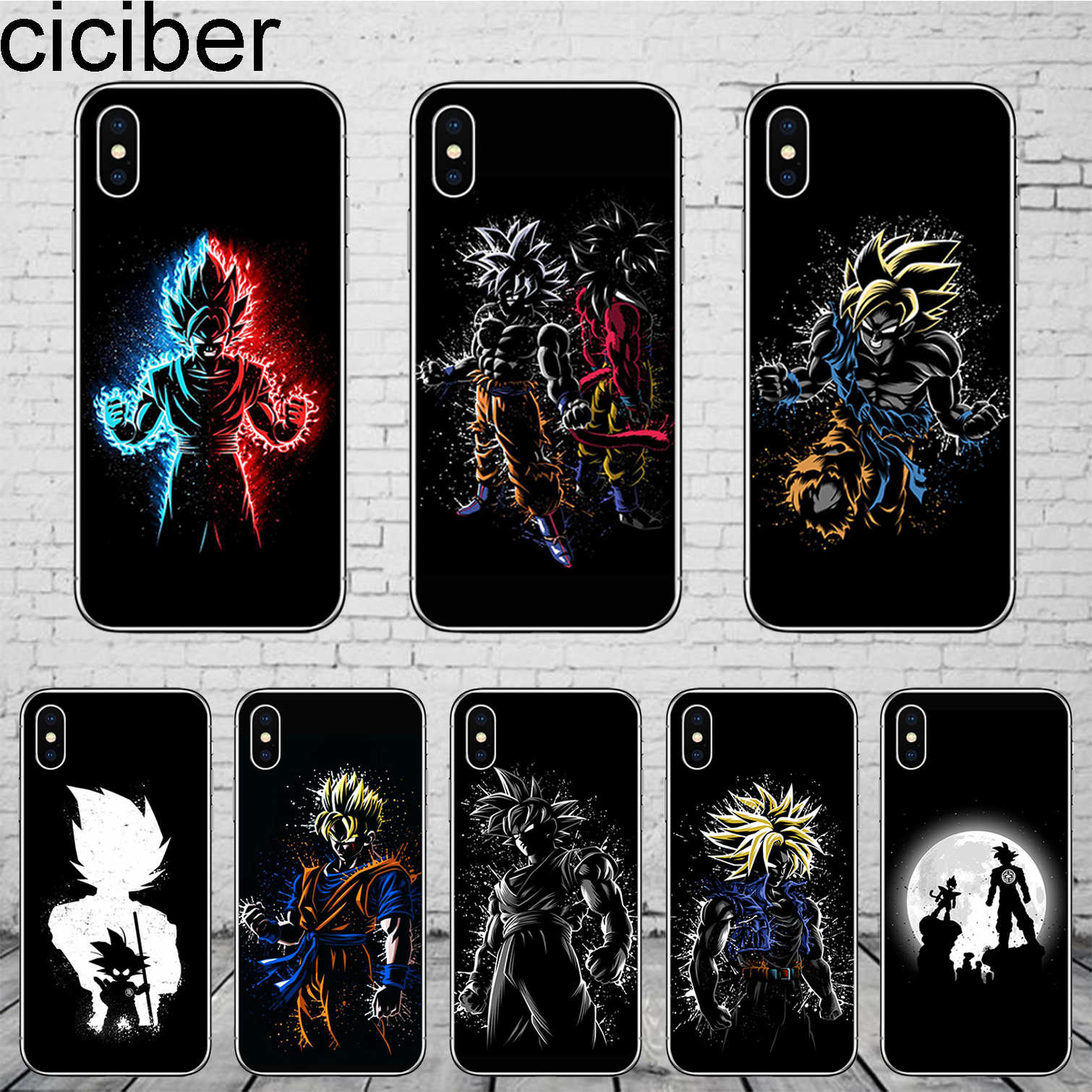 Ciciber Dragon Ball Z Goku Cho Iphone 11 Pro Max Coque Cho Iphone X XR XS Max 8 7 6 6 S Plus 5 5S SE Vỏ Mềm TPU