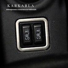 Горячая отделка из нержавеющей стали внутреннее сиденье Подогрев декоративная рамка для кнопки модификация для Mitsubishi Outlander 2013