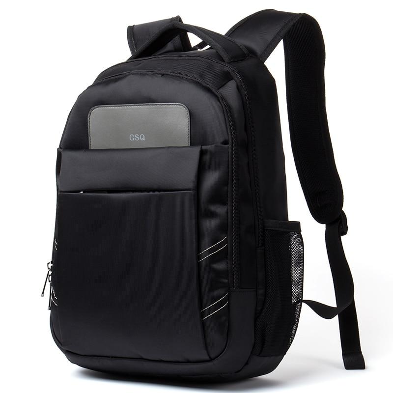 GSQ Fashion Men Backpack Student School Bag Large Capacity Zipper Pocket Design Men Bag Men Travel Bags Nylon men backpack G544 2017 markryden men backpack student school bag large capacity trip backpack usb charging laptop backpack for14inches 15inches