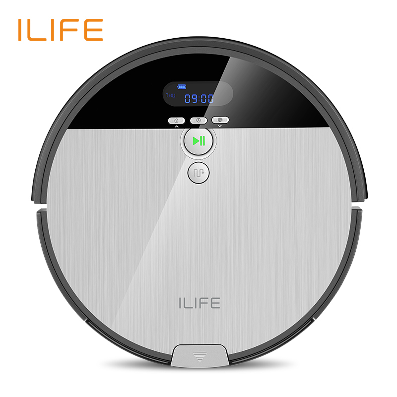 ILIFE V8s Robot Vacuum Cleaner Sweep&Wet Mop Navigation Planned Cleaning 0.75L Dustbin Water Tank Adjustable Schedule Household(China)