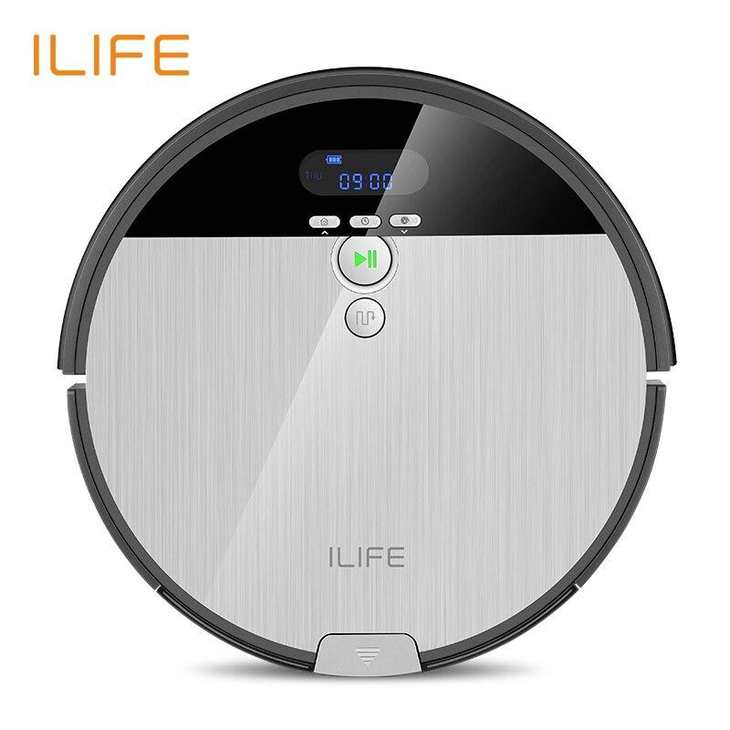 ILIFE V8s Roboter-staubsauger Sweep & Wet Mop Navigation Geplant Reinigung 0.75L Mülleimer Wasser Tank Einstellbare Zeitplan Haushalt