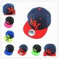 Nova chegada NY crianças Snapback dos desenhos animados meninos e meninas de algodão bordado boné de beisebol Snapback Hip Hop chapéus