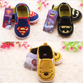 2016 New Super Batman Bear Cartoon Baby Shoes Prewalkers Boys Girls Newborn Infant Non-Slip Shoes Sapatos First Walkers