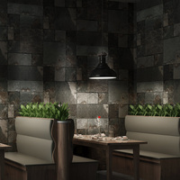 Vintage Wall Paper Waterproof Non Woven Wallpapers 3d Stone Wallpaper Contact Paper 3D Wall Panels Vinyl