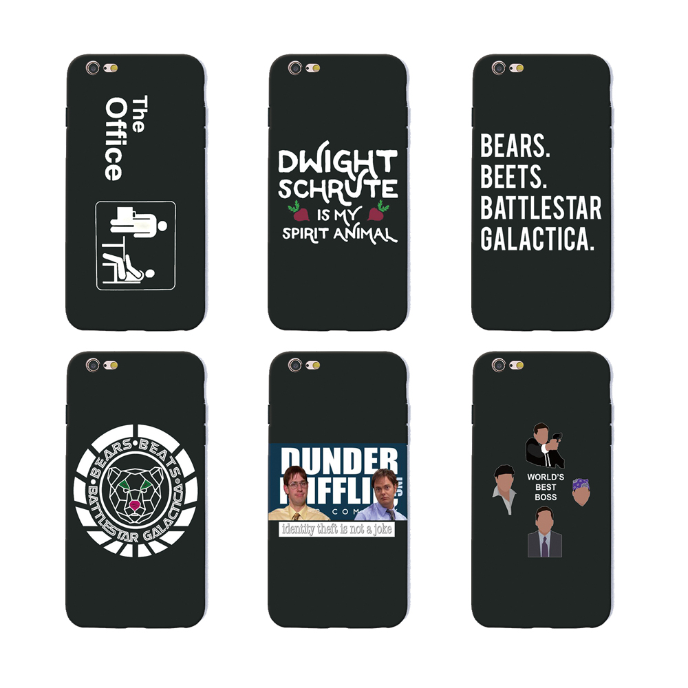 competitive price 63ffa 8a252 TV the office cast meme Michael Scott phone cases soft Silicone ...