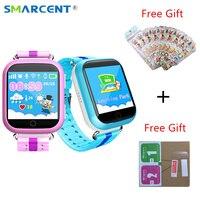 SMARCENT Q750 Q100 GPS Smart Horloge met Wifi 1.54 ''Touch Sreen Smartwatch SOS Oproep Locatie Apparaat Tracker Kid Veilig pk Q50 Q90