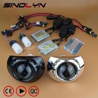 For BMW E46 ZKW M3 Headlight Retrofit Kit Mini 2.5'' HID Bi xenon Lens Projector Turning Headlamp H1 H7 DIY Canbus Error Free