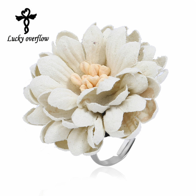 2018 New Fashion Exclusive Design Handmade Elegant Bohemian Style Ring White Col
