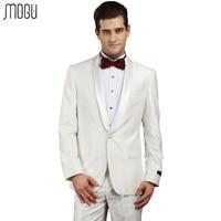 MOGU Solid Wedding Men Suits 2017 New Fashion Two Piece Pure Color Formal Suits Men Slim Fit High Quality Asian Size Men's Suits