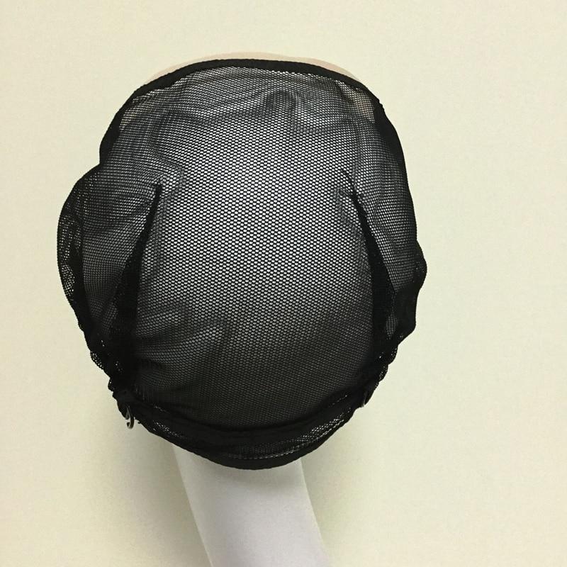 Mesh Front Glueless Lace Cap Wig Untuk Membuat Rambut palsu Dengan - Penjagaan rambut dan penggayaan - Foto 3