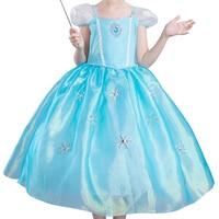 2018 Summer Dress Baby Girl Anna Elsa Queen Dress Kids Princess Fancy Clothes For Party Costums