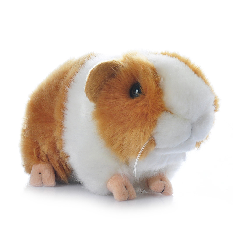 Guinea Pig Simulation Plush Doll Animal Toys Soft Small Toy Animals Hamster Boneca Onderwijs Doll Cute Stuffed Doll 60A0729 big toy owl plush doll children s toys simulation stuffed animal gift 28cm