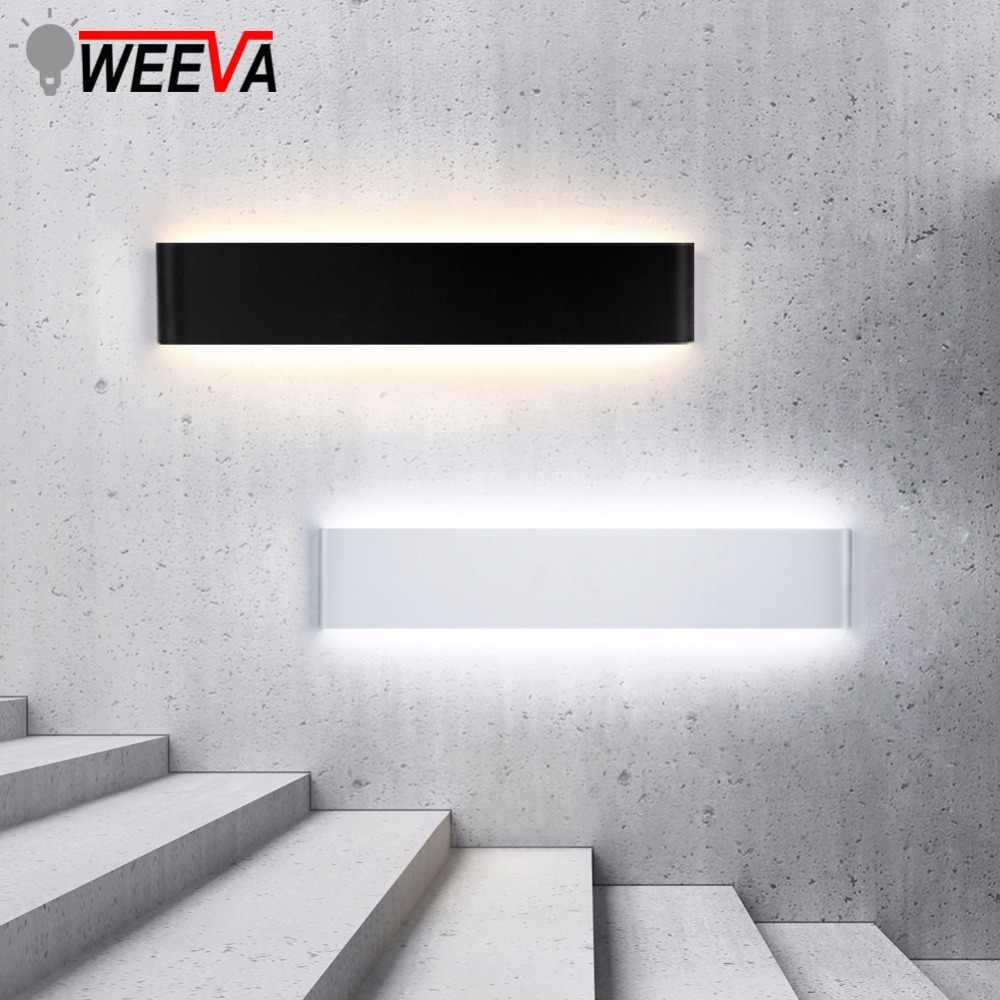 Светодиодный настенный светильник современный минималистский свет 6 Вт 10 Вт 20 Вт 24 Вт гостиная алюминиевая лампа корпус внутреннего освещения AC110 ~ 265 в