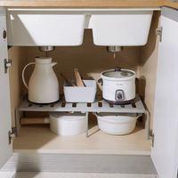 Prateleira organizadora para armário de cozinha, prateleira decorativa para economia de espaço em armário de cozinha e guarda-roupa