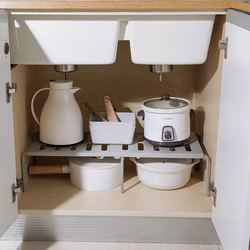 Rumah Lemari Organizer Rak Penyimpanan untuk Dapur Rak Menghemat Ruang Lemari Hias Rak Kabinet Pemegang