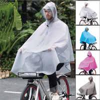 Impermeable al aire libre grueso impermeable a prueba de viento transpirable ciclismo poncho moda bicicleta abrigos de lluvia con bolso