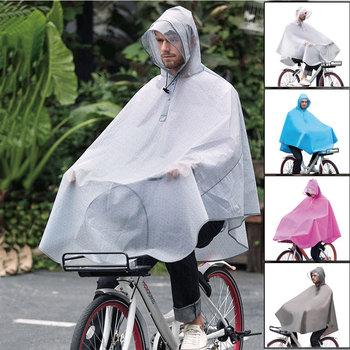 Outdoor wodoodporny gruby nieprzepuszczalny wiatroszczelny oddychający rowerowy poncho moda rowerowe płaszcze przeciwdeszczowe z torebką tanie i dobre opinie Z tworzywa sztucznego Uniwersalny WOMEN Odzież przeciwdeszczowa Dorosłych WXQ18-R008 Tour Single-osoby przeciwdeszczowa