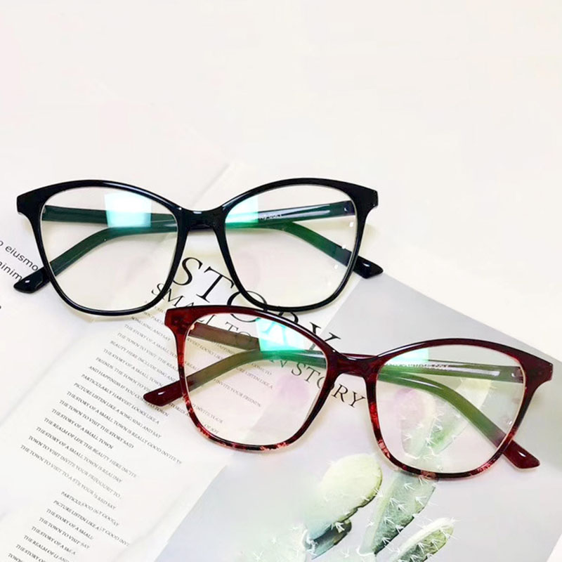 Big Frame Cat Eye Glasses Retro Optical Spectacle Women Eyewear Clear Lens Men Eyeglasses Frame Fashion Lady Oculos