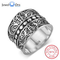 Solid 925 Sterling Silver Female Rings With 15 5MM Wide Mysterious Pattern Rings Engagement Rings JewelOra