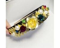 Vintage Baroque Europe show velvet wide headband gold metal leaves coins crystal hairband wedding bridal hair accessories