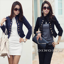 Корейская женская одежда для работы с длинным рукавом на пуговицах, тонкий укороченный пиджак с баской, повседневная куртка, кардиган, пальто