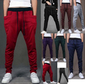 Новый 2016 Мужская Бегуны Мода Гарем Брюки Хип-Хоп Slim Fit Штаны Мужчины для Танца 8 Цвета брюки Горячие