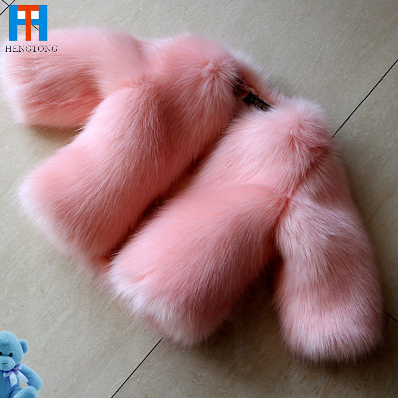 ФОТО Top quality girls faux fur coat autumn winter children outerwear jacket warm baby clothes child Fleece thick clothing coat