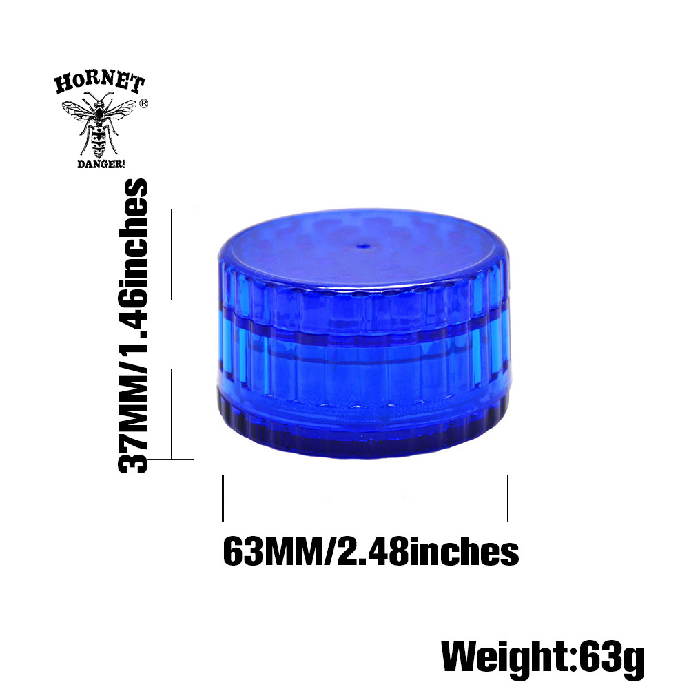 """1 BUTTERFLY POLYCARBONATE 2/"""" TOBACCO GRINDER"""