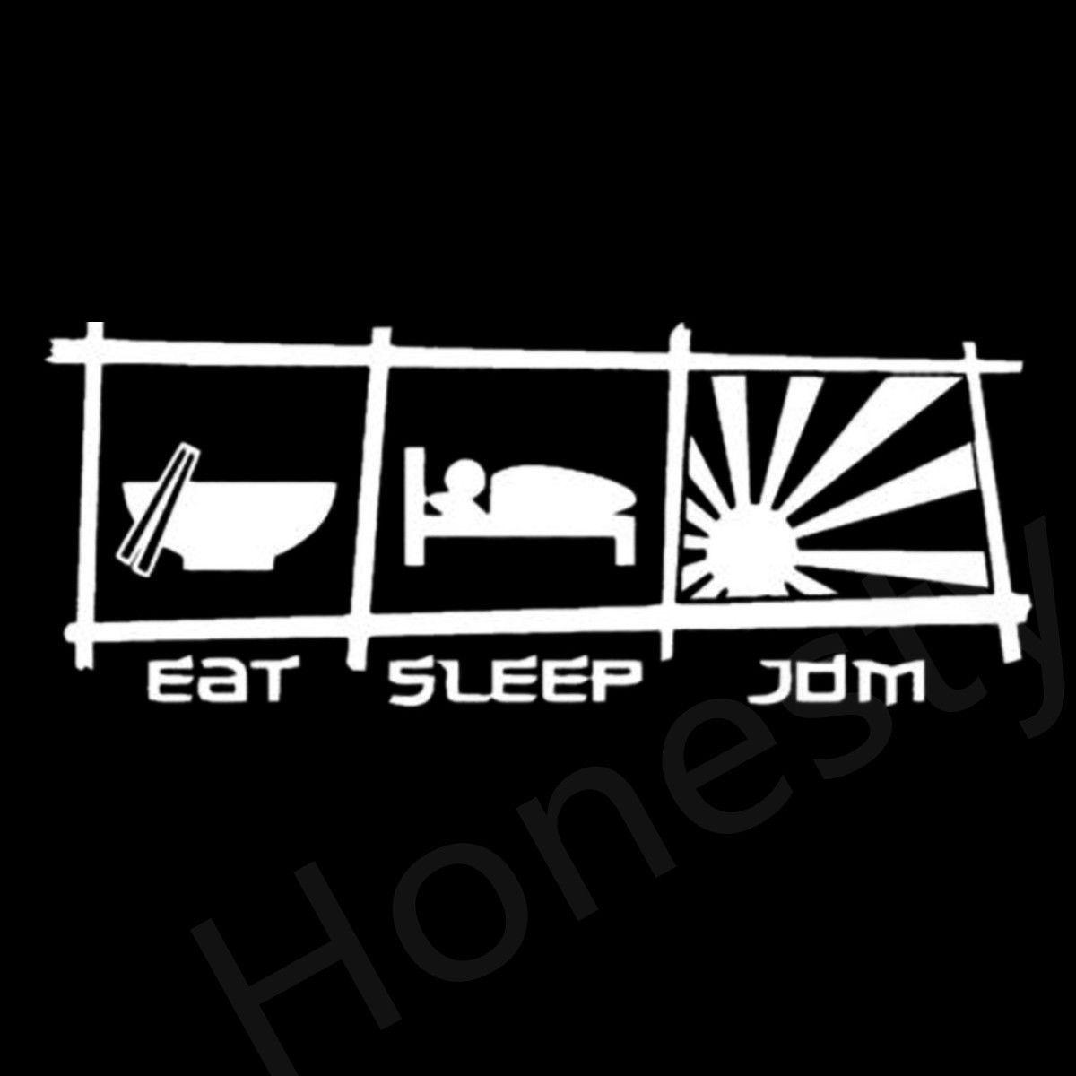 EAT SLEEP JDM V2 Vinyl Decal JDM Sticker Window Car