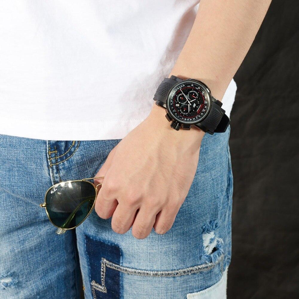 Reef Tiger / RT Sport quartz horloge met chronograaf datum Zwart - Herenhorloges - Foto 4