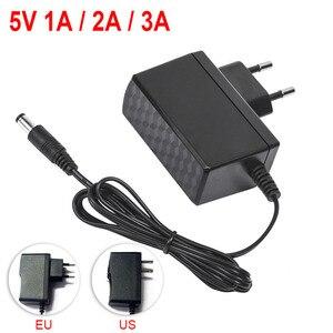 Адаптер питания, 5 в пост. Тока, 12 В, 9 В, 1 А, 2 А, 3 А, 0,5a, 100 240 в, зарядное устройство, светодиодный адаптер, вилка стандарта США и ЕС, 5,5 мм x 2,5 мм для светодиодных лент видеонаблюдения