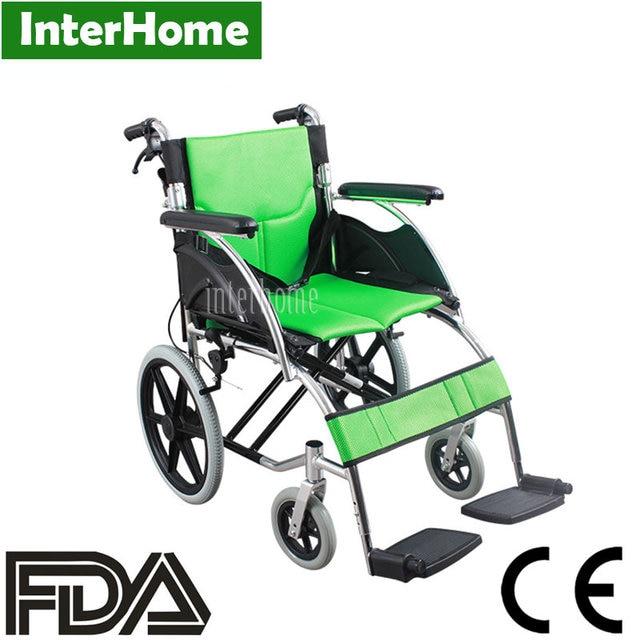 AUFU Wheelchair Sponge Cushion Small Wheel Chair Foldable Aluminum Alloy  Wheelchair Medical CE FDA Approved Disability