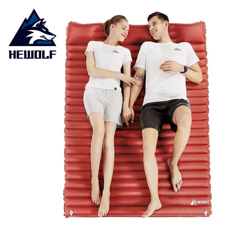 Hewolf 3 Style 1 2 personne Camping Air Mat tente extérieure matelas gonflable avec oreiller d'air coussin de couchage pour Camp plage bébé jouer