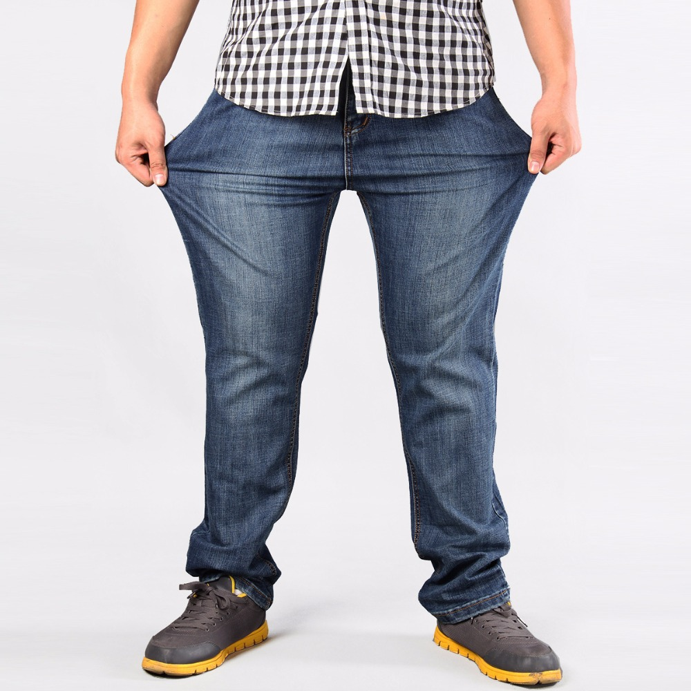 Brand Men Plus Big Size Pants 38 40 42 44 46 48 50 52 Mens High Stretch Big and Tall Large Trouser Loose Jeans for Men hiphop