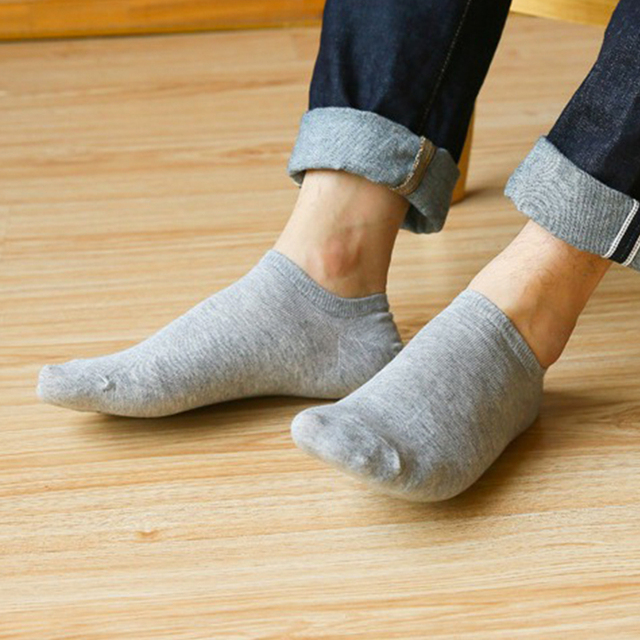 6pcs=3 Pairs/lot Spring Summer Men Cotton Ankle Socks For Men's Business Casual Solid Color Short Socks Male Sock Slippers
