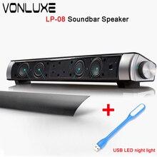 Versión mejorada LP08 Amplificadores Boombox Bluetooth Soundbar Barra De Sonido De TV Teléfono Tf Subwoofer de Alta Fidelidad Altavoz de la Computadora para Xiaom