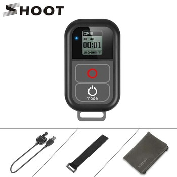 цена на SHOOT for GoPro 8 WiFi Remote Control with Charger Cable Wrist Strap Waterproof Remoter for GoPro Hero 7 6 5 Black 4 3 Accessory