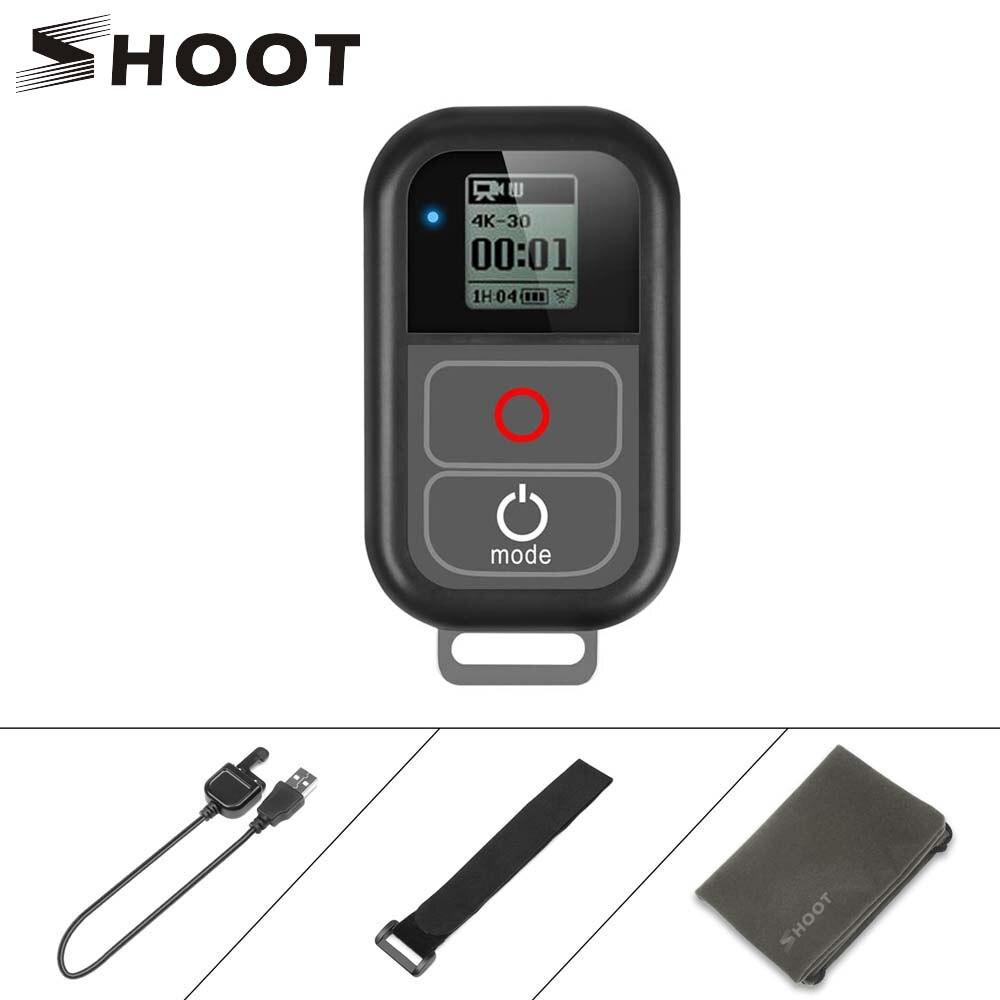 SHOOT para GoPro 8 WiFi Control remoto con Cable cargador correa de muñeca a prueba de agua remoto para GoPro Hero 7 6 5 negro 4 3 accesorio