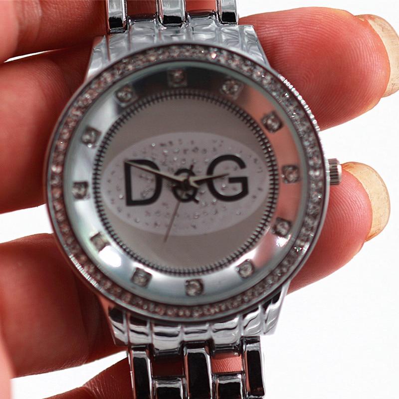 Dames Horloge 2018 New Hot Sale Luxury brands DQG Women quartz watch Silver Full Steel Rhinestone Bear Unisex Sport Watch Chasy men quartz full steel watch hot sale luxury