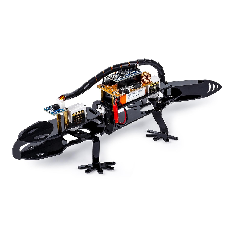 SunFounder Bionique Robot Lézard de Programmation Visuelle Robot Éducatif Kit pour Enfants Télécommande BRICOLAGE Jouet