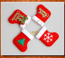 Hot New Personalised Kids Luxury Embroidered Xmas Stocking Sack Santa Christmas Gift Drop Ornaments(China)