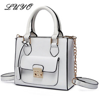 LUYO Brand Chain Pu Leather Small Shoulder Bag Luxury Handbags Women Bags Designer Bolsa Feminina Crossbody