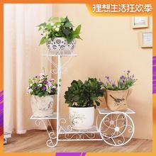 Новая европейская полка для цветов из кованого железа, домашняя напольная гостиная, зеленая полка для цветочных горшков, многослойная домашняя подставка для цветов