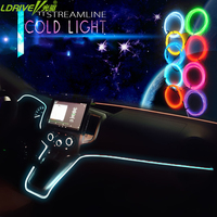 3M Car Styling DIY Cold Line Flexible Interior Decoration Moulding Trim Strips Light For Motorcycle And