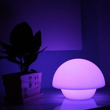 Im Dunkeln Leuchten Dekorationen   D20 * H18cm 16 Farbe Glowing In Dark Cordless Decor Pilz Beleuchtung Multi Farbe Led Restaurant Tisch Lampen Kostenloser Versand 1pc