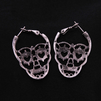 Skeleton Punk Style Earring1