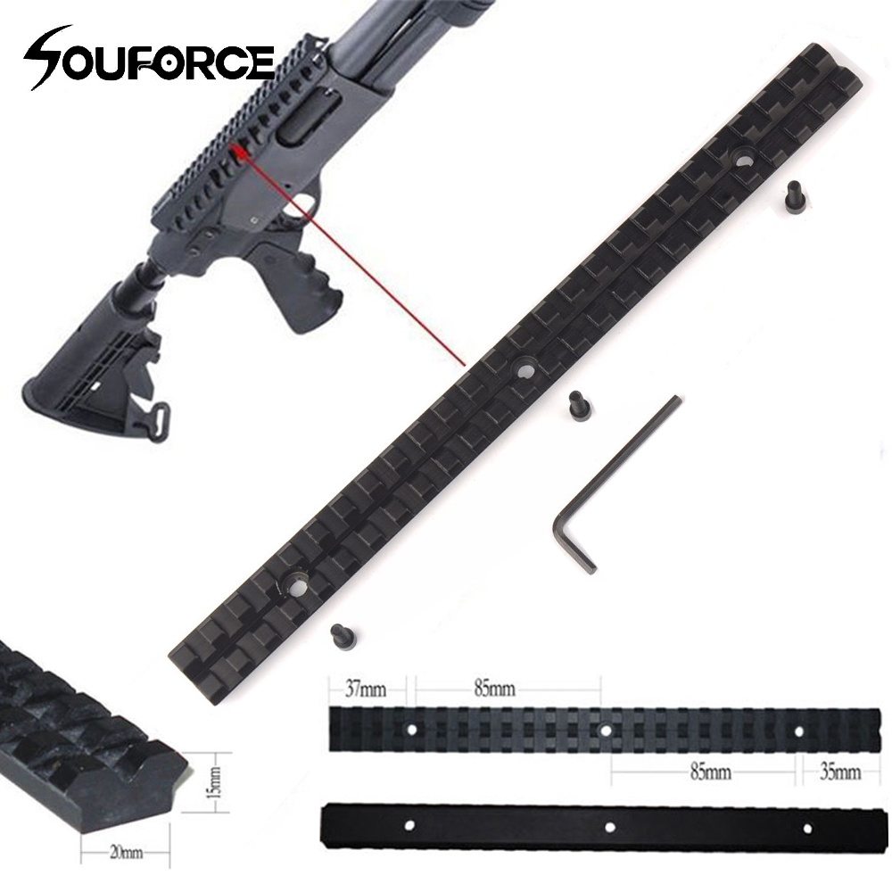 25 Slots and 257mm Length 20mm Mount Picatinny Rail of Aluminum Alloy for Hunting Scope and Flashlight Mount25 Slots and 257mm Length 20mm Mount Picatinny Rail of Aluminum Alloy for Hunting Scope and Flashlight Mount