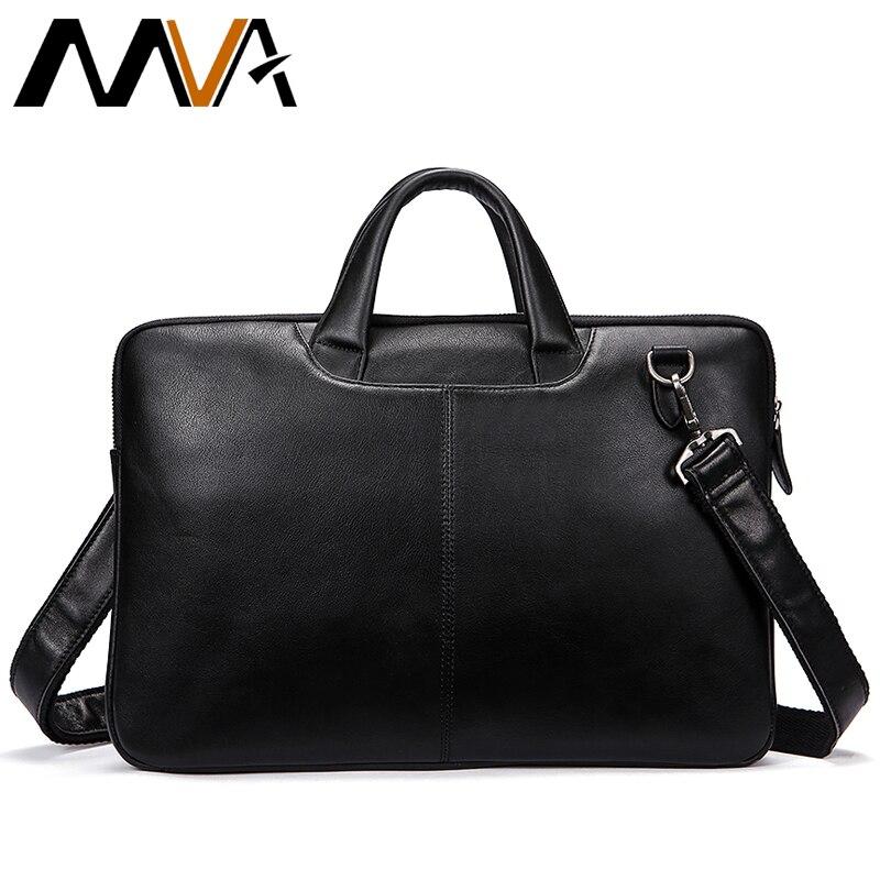 Bagaj ve Çantalar'ten Evrak Çantaları'de MVA Erkekler Evrak Çantası Hakiki Deri omuz çantaları Siyah Çanta Iş Çantası Erkekler Belge Erkek Evrak Çantaları Deri laptop çantası'da  Grup 1