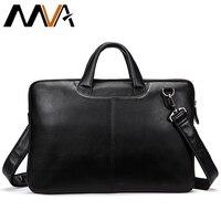 MVA Men Briefcases Genuine Leather Shoulder Bags Black Handbags Business Bag Men for Document Male Briefcases Leather Laptop Bag