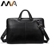 MVA Men Briefcases Genuine Leather Shoulder Bags Black Handbags Business Bag Men For Document Male Briefcases